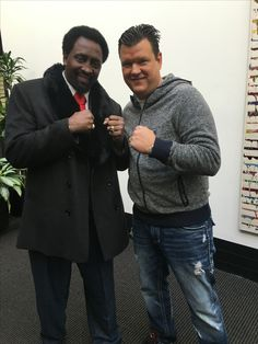Dr Weinert with Thomas Hearns