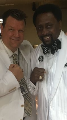 Dr Weinert with Thomas Hitman Hearns